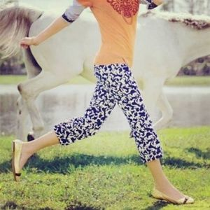 Lilly Pulitzer Horse of Course Print Cord Capris